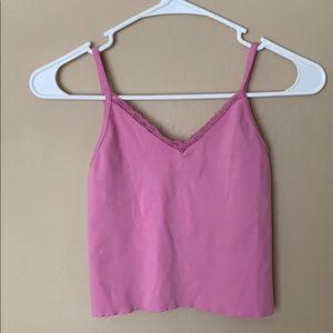 Women's pink brandy Melville Nicolette tank top